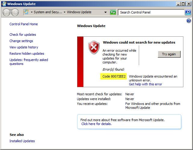 Printer driver windows update fails where do windows updates download too