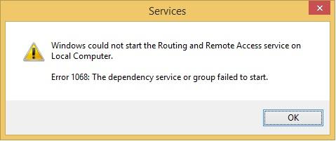 How to fix windows 7 error 1068.